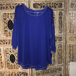 St. John's Bay Active shirt blue size 3X